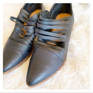 Leather Pointy Toe Loafers